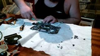 Очистка от пыли и замена термо пасты в ноутбуке Packard Bell TS11 HR 380RU
