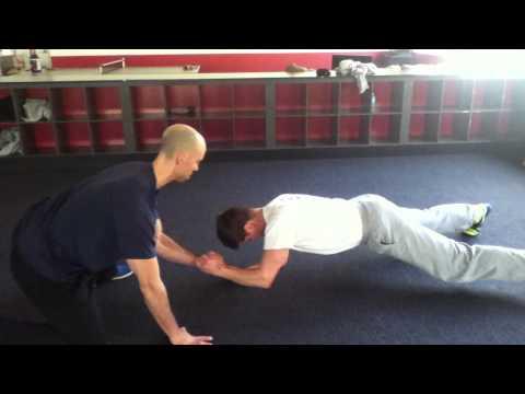 Prone Plank Push-Pull
