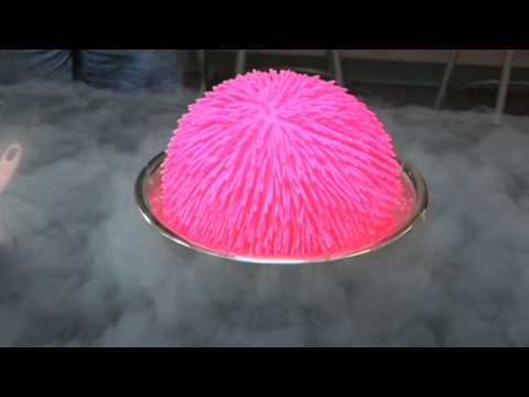 Giant Koosh Ball in Liquid Nitrogen