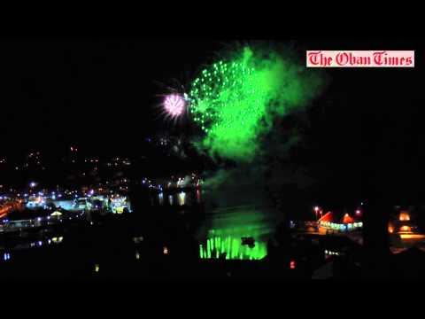 Oban Winter Festival finale fireworks 2014