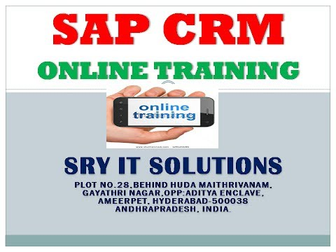 SAP CRM ONLINE TRAINING | SAP CRM DEMO | SAP CRM VIDEOS