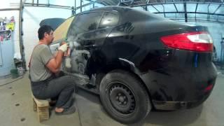 Рено флюенс ремонт кузова в Нижнем Новгороде  Renault  Fluencе Auto body repair