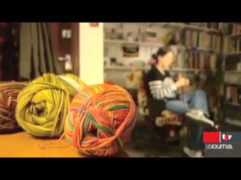 Graffiti Knitting: Swiss TV news stalk Knit the City