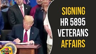 Trump Remarks prior to signing HR 5895 Veterans Affairs Appropriations Act | Trump Speech |MangoNews - MANGONEWS