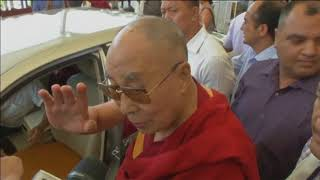 "21 Jun, 2018: Dalai Lama returns to India, says his health is ""normal"" - ANIINDIAFILE"