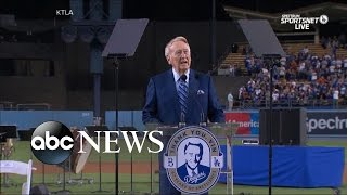 Vin Scully | Voice of the Dodgers Gives His Final Farewell - ABCNEWS