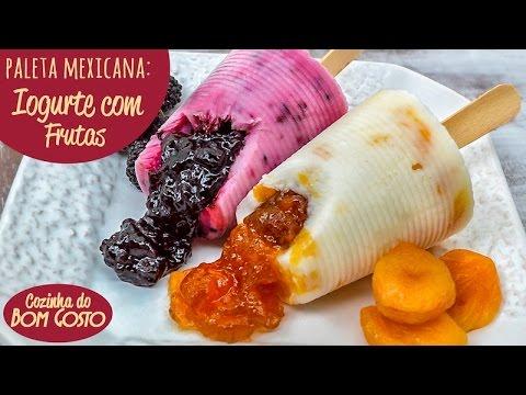 Paleta Mexicana com Copos Descartáveis (Iogurte com Geléia de Frutas) | Cozinha do Bom Gosto