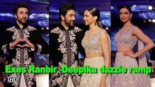 Exes Ranbir -Deepika dazzle ramp at Manish Malhotra show - IANSINDIA