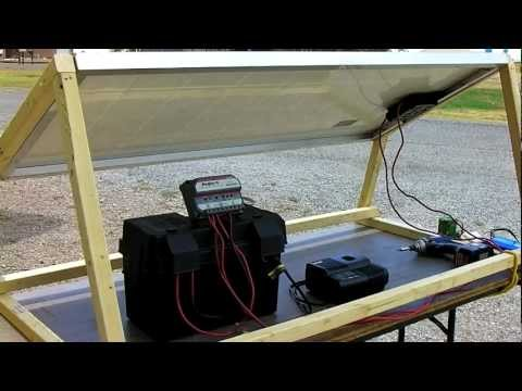 How to Build A Solar Generator - DIY Survival Prepper Solar Panel Installation