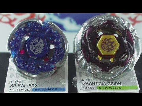 EPIC Battle Spiral Fox TR145WD VS Phantom Orion 145ES (Beyblade Metal Fury Hasbro) HD! AWESOME