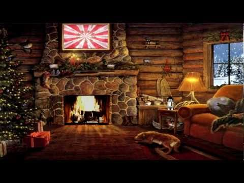 Christmas Cottage with Yule Log Fireplace and Snow Scene (LukeAmerica2020)
