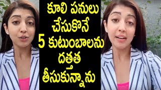 Actress Pranitha Emotional About Daily wage Workers - RAJSHRITELUGU