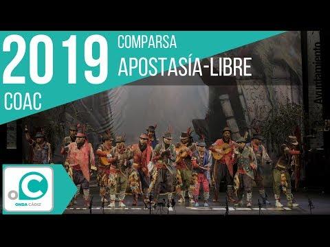 La agrupación Apostasía-libre llega al COAC 2019 en la modalidad de Comparsas. Primera actuación de la agrupación para esta modalidad.