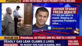 Author Chetan Bhagat wants President's office abolished - NEWSXLIVE
