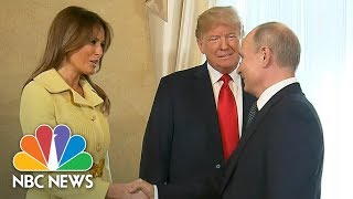 President Trump Introduces First Lady Melania To Vladimir Putin At Helsinki Summit | NBC News - NBCNEWS
