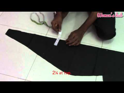 24 Panel Anarkali - 4. Inner Cutting and Creating Panel Pattern