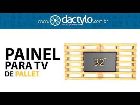 Painel para TV de Pallet | Dactylo Móveis de Madeira