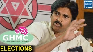 Pawan Kalyan says I am not here to talk on GHMC Elections | TFPC - TFPC