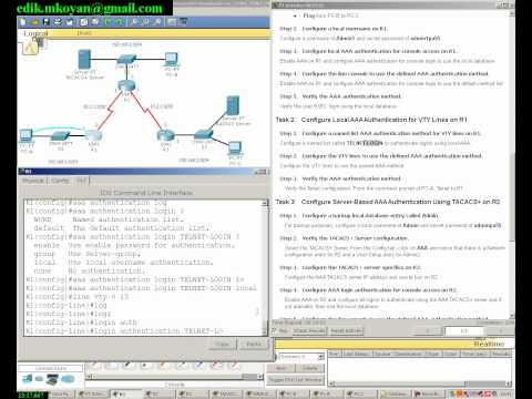 A Packet Tracer activity, Configure AAA Authentication on Cisco Routers