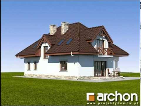 Dom w majeranku (P). Projekty domów ARCHON+, www.archon.pl