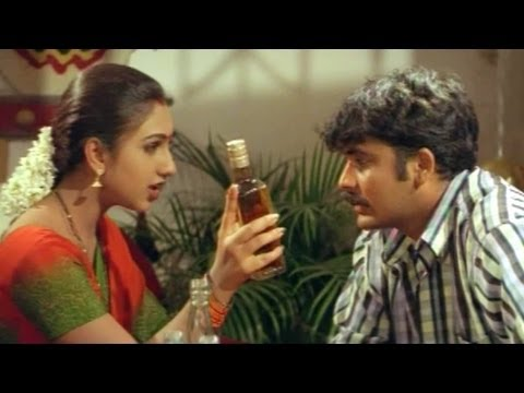 Comedy Kings - Rukmini Cooperate  With Her Husband For Drinking - Mallikarjuna Rao