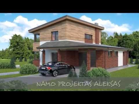 Dviejų aukštų namo projektas Aleksas | NPS projektai - namų projektavimas, statyba