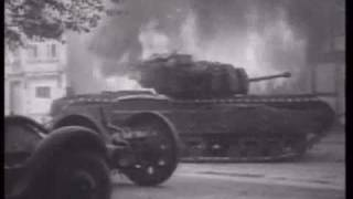 german SS tiger tank ace vs churchill in france WW2, Michael Wittmann