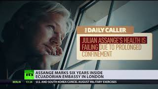 'Arbitrary detention': Assange marks 6yrs inside Ecuadorian embassy in London - RUSSIATODAY