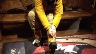 登山靴 靴紐の縛り方 冬山用登山靴編