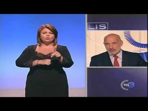 TG3 LIS del 24-08-2013 il TG nella Lingua Italiana dei Segni di Rai 3