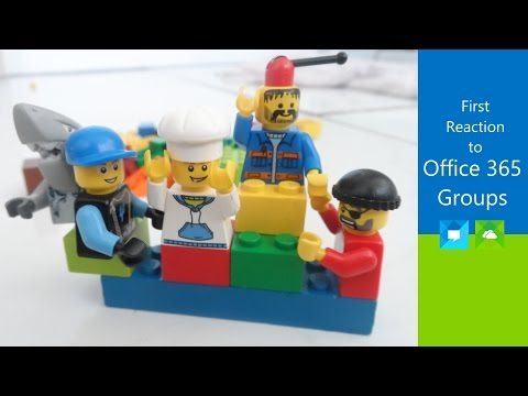 First Reaction to Office 365 Groups - an honest, explorative walk-through
