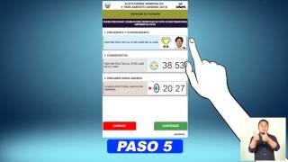 ¿Cómo realizar el voto electrónico? - Elecciones 2016 Perú