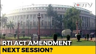 Concerns Raised As Centre Moves To Amend RTI Law In Parliament Session - NDTV