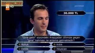 Kim Milyoner Olmak ister 222. Bölüm Fatih Avcı 20.05.2013