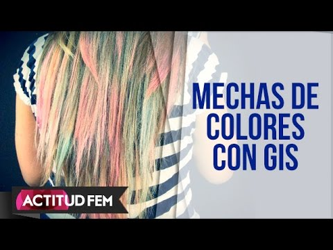 Cómo hacer mechas de colores con gis | ActitudFEM