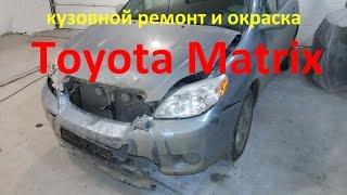 Тойота Матрикс ремонт и покраска в Нижнем Новгороде .Toyota Matrix