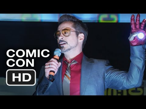 Robert Downey Jr.'s Dancing Comic-Con Intro - Iron Man 3 HD Movie