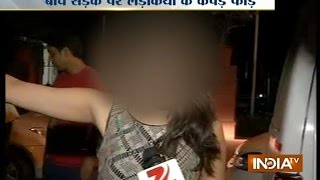 Two girls molested and beaten outside a club in Delhi - INDIATV