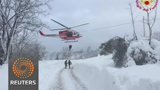 Many feared dead in Italian hotel avalanche - REUTERSVIDEO