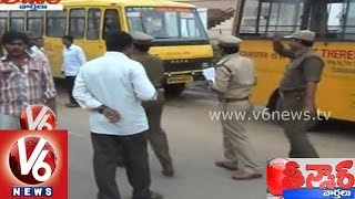 RTA seizes 20 school buses for violations - Teenmar News - V6NEWSTELUGU