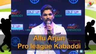 Allu Arjun Pro league Kabaddi - IGTELUGU