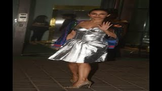 In Graphics: Malaika Arora makes to Arpita's marriage anniversary in a silver one piece - ABPNEWSTV