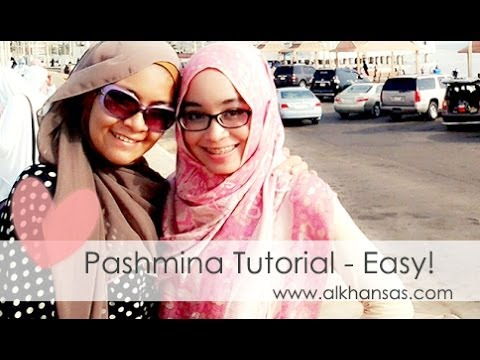 Easy Pashmina Hijab Tutorial 2014