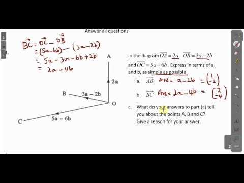 CXC CSEC Maths- Vector Lesson 2