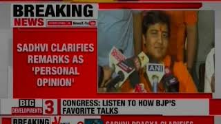 Lok Sabha Elections 2019: Sadhvi Pragya apologizes for remark on Hemant Karkare - NEWSXLIVE