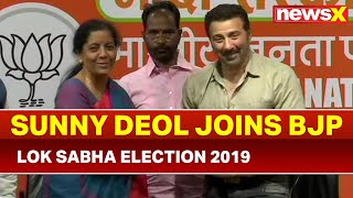 Sunny Deol joins BJP in presence of Piyush Goyal, Nirmala Sitharaman, Lok Sabha Elections 2019 - NEWSXLIVE