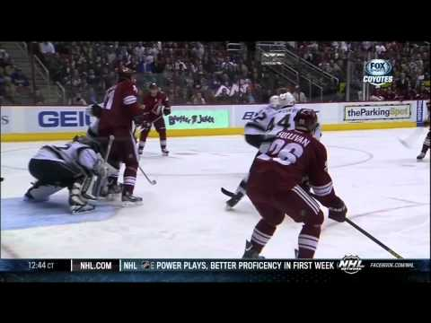 Mikkel Boedker goal 26 Jan 2013 LA Kings vs Phoenix Coyotes NHL Hockey