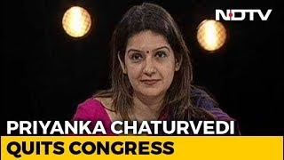 Congress's Priyanka Chaturvedi Quits Party Day After Tweet Criticising It - NDTV