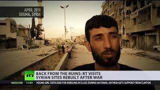 Life in the ruins: Syrians get back to normal life, rebuild cities after war - RUSSIATODAY