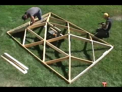 World's Fastest Wooden Hip Roof.wmv
